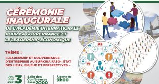 Lancement officiel des activités de l'Académie Internationale pour la Gouvernance et le Leadership Économique (AIGLE) le 03 juin 2021